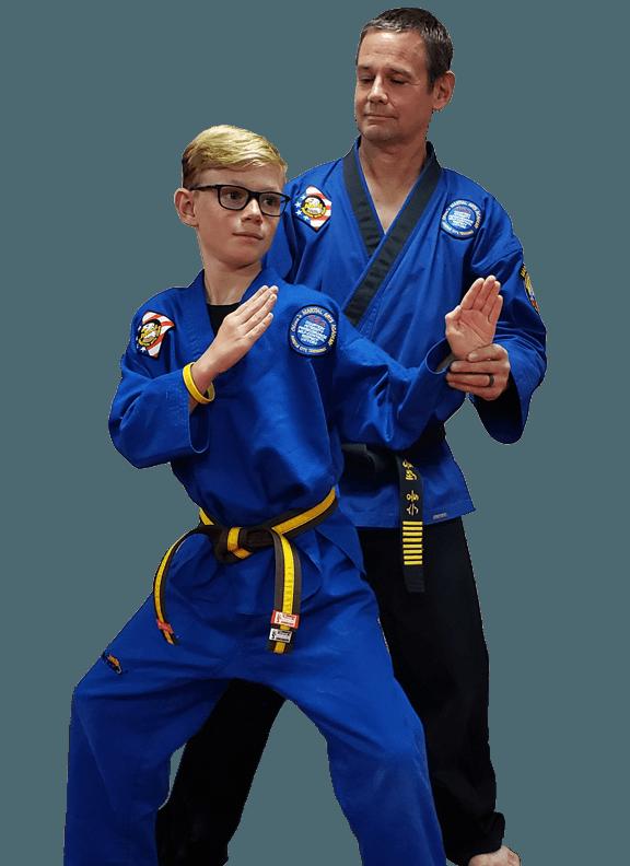 Master Glenn Olson instructing a student