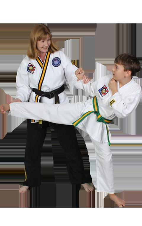Amanda Olson teaching martial arts